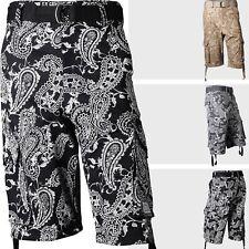 CARGO short belt Paisley Bandanna gangster hippie cholo hip hop khaki black 36