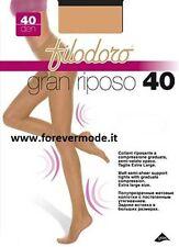 3 Medias de mujer Filodoro semilla transparente de descanso con corpiño art Gran