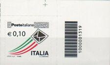 2010 francobollo Posta Ordinaria da € 0.10 CON CODICE A BARRE 1319
