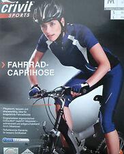 Damen Capri Fahrradhose Caprihose 3/4 Radhose Kurz S M L 36 38 40 42 44 46 NEU