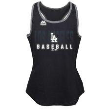 "Los Angeles Dodgers Majestic MLB Girls Black ""Shadow Play"" Graphic Tank"