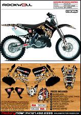 2001-2009 SUZUKI RM 125 250 Rockwell Motocross Graphics Dirt Bike Graphics Kit