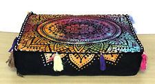 Indian Floor Square Running Mandala Handmade Pillow Pouf Craft Throw Cushion Art