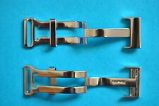 18mm + 20mm Cierre desplegable para Breitling Correas de cuero acero inox.