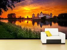3D Sun Glow Castle 41 Wall Paper Murals Wall Print Decal Wall Deco AJ WALL PAPER
