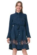 Desigual Navy Blue Sheer Panel Amelia Shirt Dress 36-46 UK 8-18 RRP?119