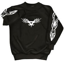 Sweat-shirt unisex S M L Xl Xxl 3Xl 4Xl Pull avec impression Tribal 09072 noir