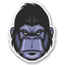 2 x Monkey Gorilla Sticker Car Bike iPad Laptop Helmet Ape Kids Skateboard #4274