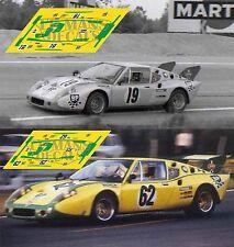 Calcas Ligier JS2 Le Mans 1973 19 62 1:32 1:24 1:43 1:18 JS 2 slot decals