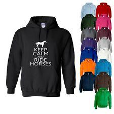HOODY Keep Calm and Ride Horses Horse Riding Equestrian Womens Sweatshirt Hoodie