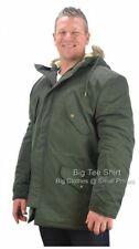 Big Mens Olive Green Espionage Mike Parka Coat 2XL 3XL 4XL 5XL 6XL 7XL 8XL