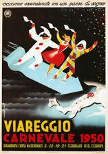 TV35 Vintage 1950's Italian Italy Viareggio Carnival Travel Poster Re-Print A4