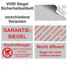 VOID Siegel Sicherheitsetiketten / Aufkleber auf Rolle - 40 x 20 mm - silber