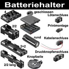 Batteriehalter für AA R6 Mignon AAA Micro C Baby R14 D Mono R20 9V-Block Knopfze