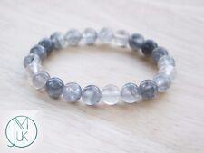 Cloudy Quartz Natural Gemstone Bracelet 6-9'' Elasticated Healing Stone Chakra
