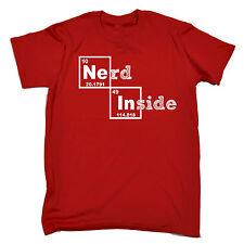 Nerd dentro de la tabla periódica T-Shirt Geek Ciencia Química Padres Día Regalo Divertido