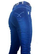 Ladies Denim Jean Jodhpurs Denim Sticky Bum Breeches  Sizes 10-22