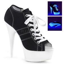 Pleaser High Heel Sneakers DELIGHT-600SK-01 Schwarz