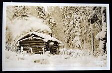 ALASKA~1920's Alaskan Trapper's Cabin ~ BECKER RPPC