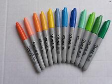 3 x  SHARPIE  FINE POINT  PERMANENT ( Various colours)