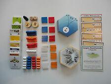 Siedler von Catan - Ersatzteile Räuber, Rohstoffkarten, Holzfiguren, Stoffbeutel