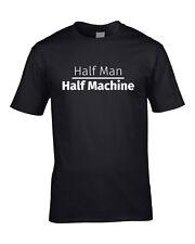 Mezzo Uomo Mezzo Macchina Da Uomo T-Shirt Regalo di compleanno ROBOT SCI-FI Tee