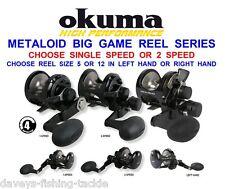 OKUMA METALOID LEVER DRAG MULTIPLIER REEL SEA BOAT ROD FISHING TROLLING UPTIDE