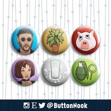Leon: The Professional - Pin Badges / Magnets   Movie Memorabilia