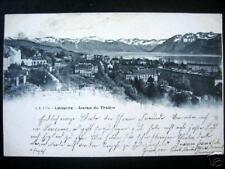 Switzerland~Suisse~1902 Lausanne~Avenue Du Theatre