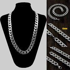 316L Stainless Steel Skulls Mens Biker Punk Toggle Link Chains Necklace 5L018NA