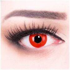 Crazy Fun rote Kontaktlinse mit Stärke Red Devil  Behälter für Halloween