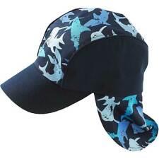Boys Shark Legionnaire Peak Summer Cap Hat Summer Toddler Younger Blue Multi
