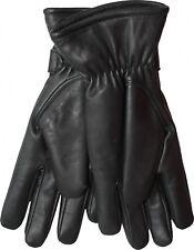 Señora lammnappa guantes de cuero guantes de cuero genuino cordero-Napa negro