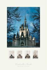 Building A Dream by Walt Disney Art Print Castle Poster 24x36 - Out of print