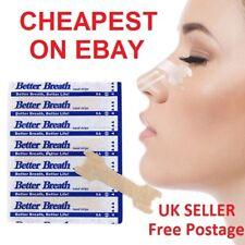 5-1000 Nasal* Nose Sleep strips better breathe Stop Snoring Breath Easier Uk p&p