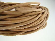 Lederschnur (ab 1,68€/m) Rund 6 mm. Natur. Lederband. Länge: wählbar