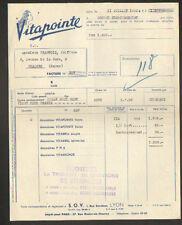 """LYON (69) PRODUITS pour CHEVEUX / COIFFEUR """"S.O.V. / VITAPOINTE"""" en 1950"""