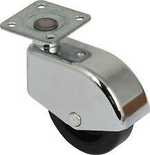 RUOTA CHIUSO girevole Ricino Ø 50 mm piastra di fissaggio della ruota