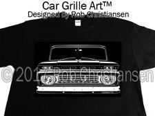 Car Grille Art™ Tee-Shirt T-Shirt, 1962 Chevy Truck, C10 K10 Suburban, Panel