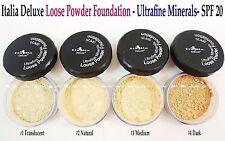 Italia Loose Face Powder/ Fix Powder - Full Size, Ultra Fine Minerals, Spf 20