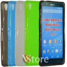 Cover Custodia Per Sony Xperia Z3 D6603 D6653 in Gel Silicone TPU Retro Opaco