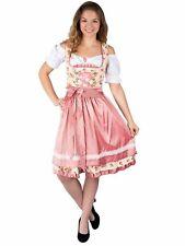Marjo Damen Dirndl Roberta 65er Länge nougat braun edel schick Oktoberfest Kleid