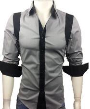 GL FASHIONS #42 New Designed Mens Casual Slim Dress Shirts UK size S/M/L