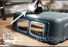 Donegan Optivisor visorlight-clip per luce-POTENTE 6000 Candela di potenza