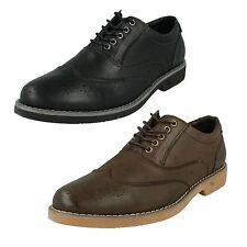 Hombre a2140 Cuero Zapatos Oxford Con Cordones De Thomas Blunt Formal