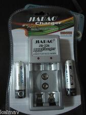Digital Power Charger 2pcs 600mAH battery Ni-CD Ni-MH rechargeable batteries