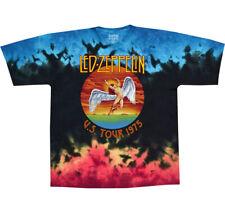 LED ZEPPELIN - U.S. Tour 1975 - Tie Dye T SHIRT M-L-XL-2XL Brand New Official