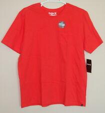 NWT Hurley Men's Premium Staple Pocket Short Sleeve Cotton Shirt Tee Size XL 2XL