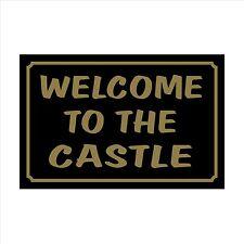 Benvenuti al Castello 160mm x 105mm in plastica segno / Adesivo CASA, GIARDINO, PET