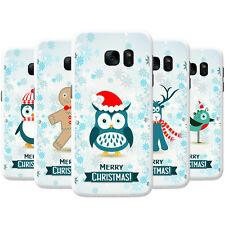 Winter Wonderland Snowflakes Animals Hard Case Phone Cover for Samsung Phones